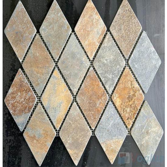 Diamond Shaped Rusty Slate Mosaic VS-SL88