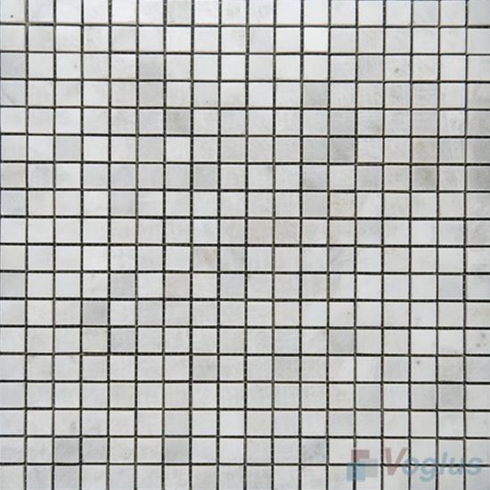 Eastern White 15x15mm Polished Icones Marble Mosaic VS-MEW91