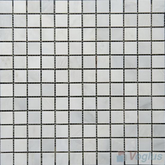 Eastern White 23x23mm 1x1 inch Polished Marble Mosaic VS-MEW92