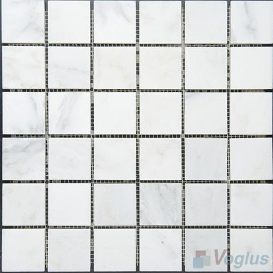 Eastern White 48x48mm 2x2 inch Polished Classic Marble Mosaic VS-MEW93