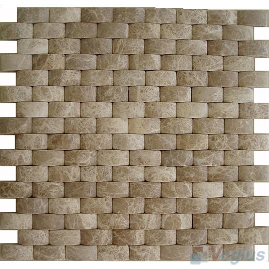 Emperador Light Camber Brick Marble Mosaic VS-MLE93