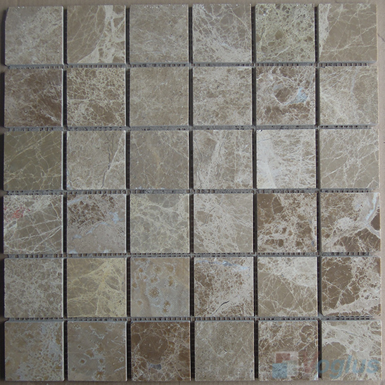 Emperador Light Polished 2x2 inch Marble Mosaic VS-MLE96