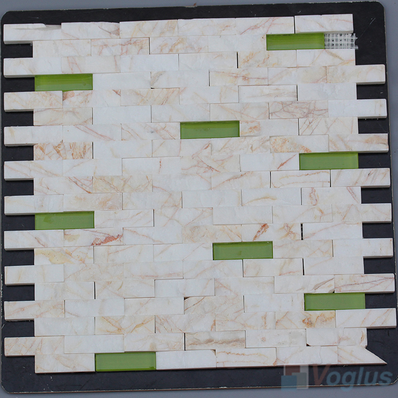 Golden Spider Subway Natural Split Face Stone Mosaic Tile VS-STM89