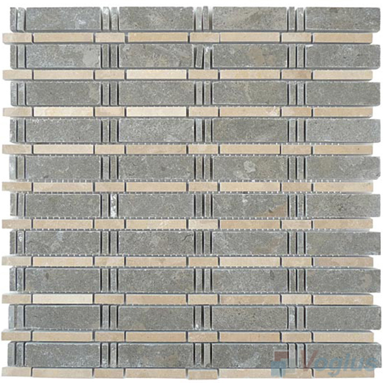 Gray Polished Bamboo Marble Mosaic VS-PBB96