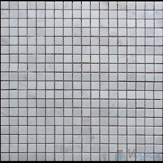 Honed Carrara White 4mm Thickness 15x15mm Heritage Marble Mosaic Tile VS-SN98