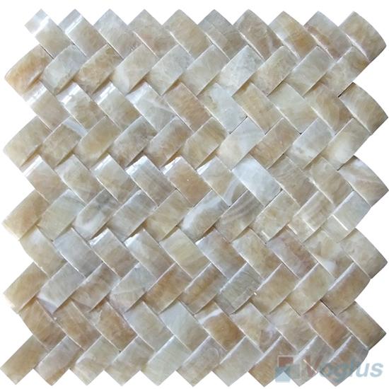 Honey Onyx Braided Pattern Stone Mosaic VS-PBD94