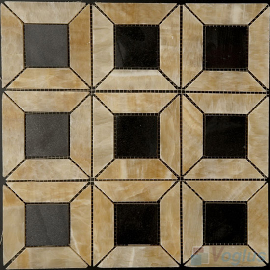 Honey Onyx Polished Big Pinwheel Stone Mosaic VS-PPW90