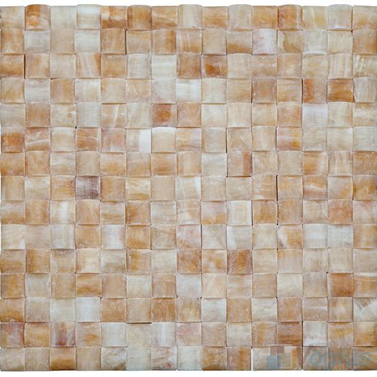 Honey Onyx Small Camber Bread 3D Stone Mosaic VS-PCB90