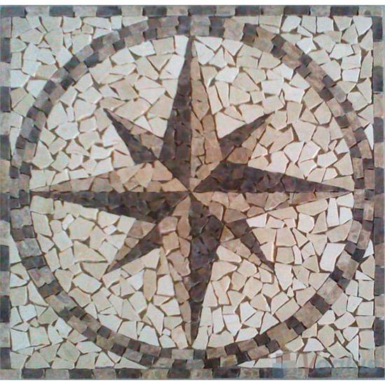 Marble Mosaic Square Medallion VS-ASQ85