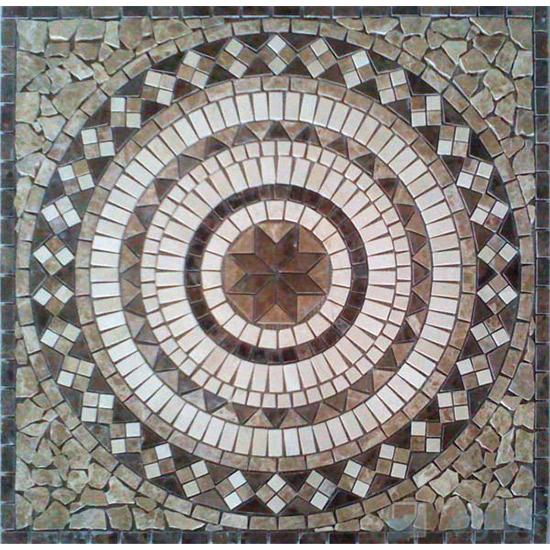 Marble Mosaic Square Medallion VS-ASQ86
