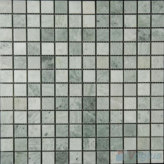 Ming Green 23x23mm 1x1 inch Polished Marble Mosaic VS-MMG95