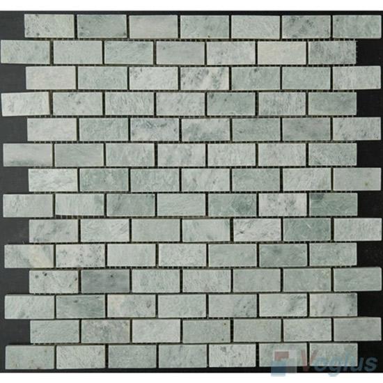 Ming Green Polished 1x2 inch Brick Marble Mosaic VS-PBK86