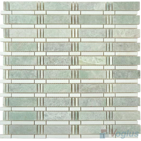 Ming Green Polished Bamboo Marble Mosaic Tile VS-PBB98