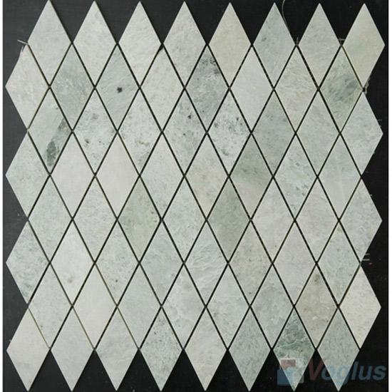 Ming Green Polished Diamond Shape Marble Mosaic VS-MMG93