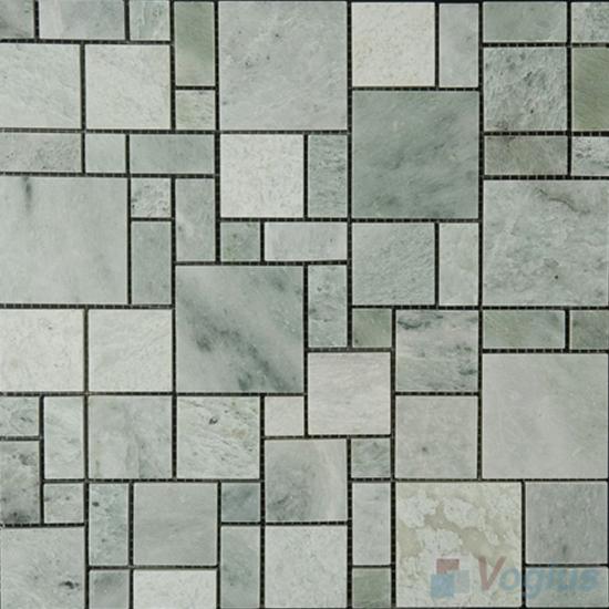 Ming Green Polished Magic Cube Marble Mosaic VS-MMG99