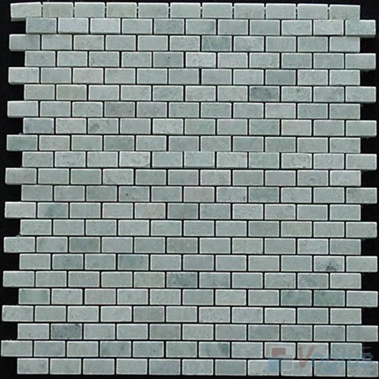 Ming Green Polished Mini Brick Marble Mosaic VS-MMG90