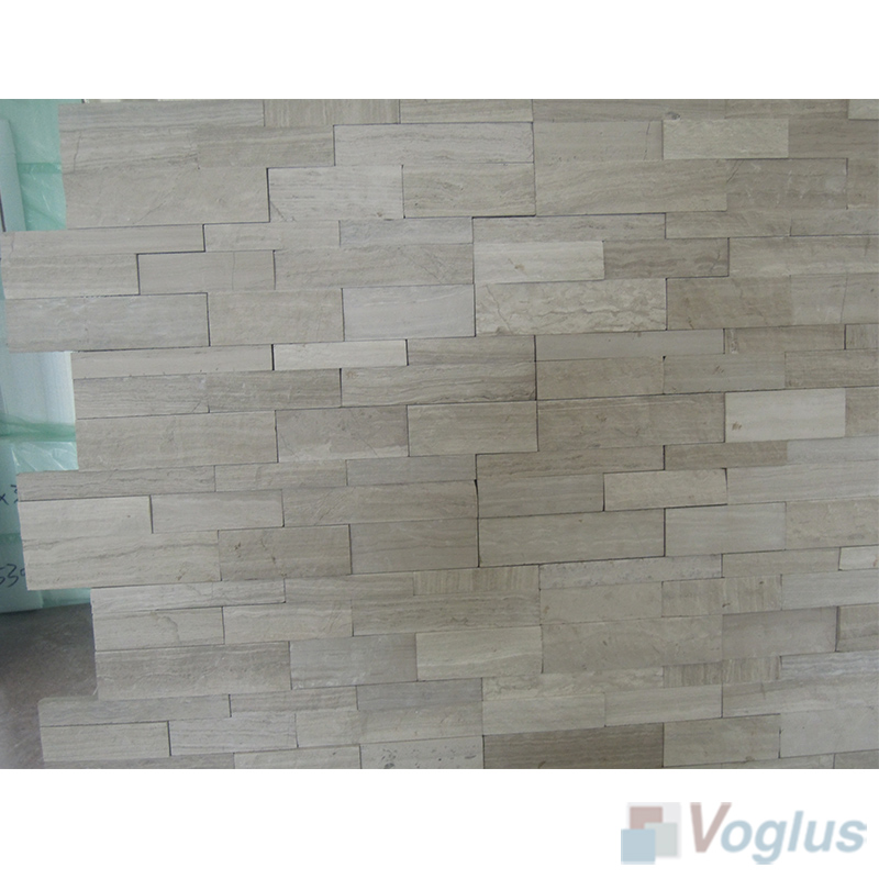 Natural Split Face Culture Stacked Stone Marble Mosaic Tile VS-STT85