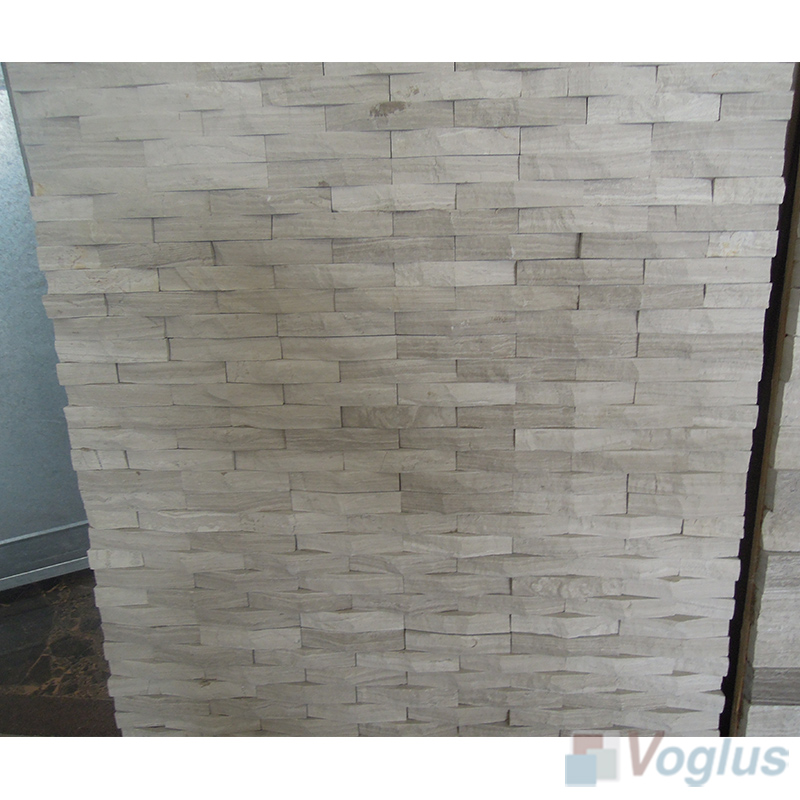 Natural Split Face Culture Stacked Stone Marble Mosaic Tile VS-STT87