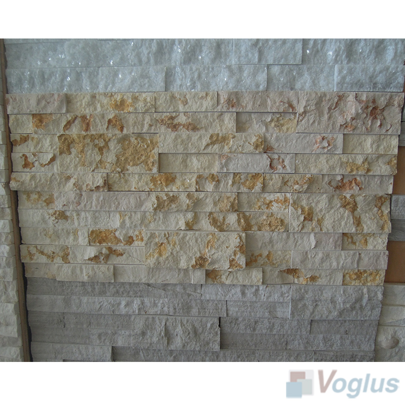 Natural Split Face Culture Stacked Stone Marble Mosaic Tile VS-STT90