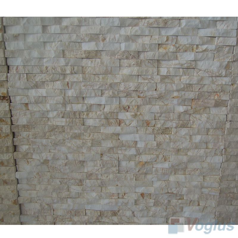 Natural Split Face Culture Stacked Stone Marble Mosaic VS-STT93