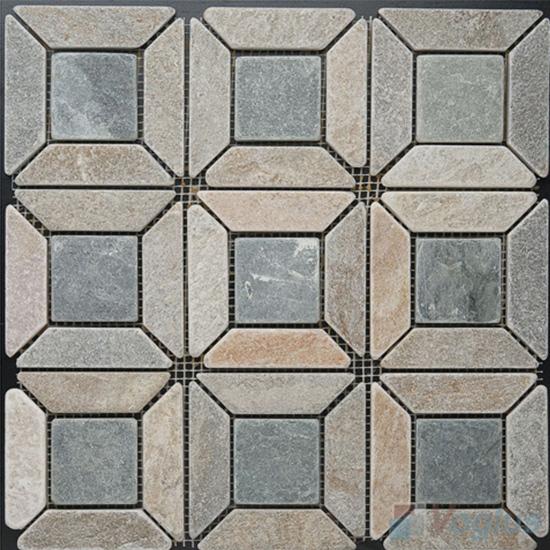 Pinwheel Quartz Stone Mosaic VS-Q91
