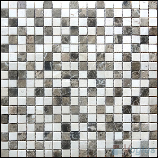 Polished Mixed 4mm Thickness 15x15mm Heritage Stone Mosaic VS-SN95