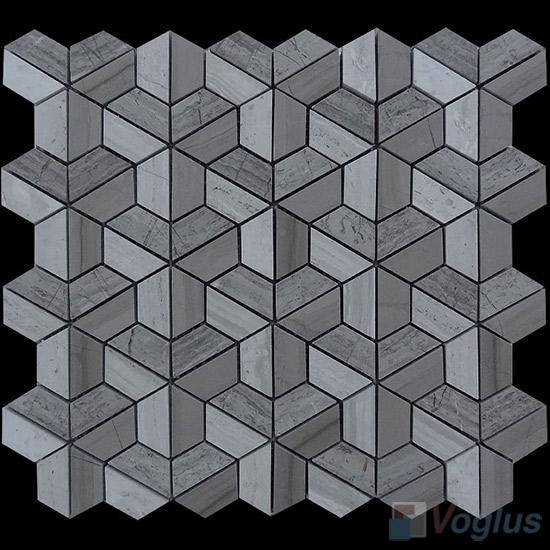 Polished Mixed Trapezia Shaped Marble Mosaic VS-PTP97