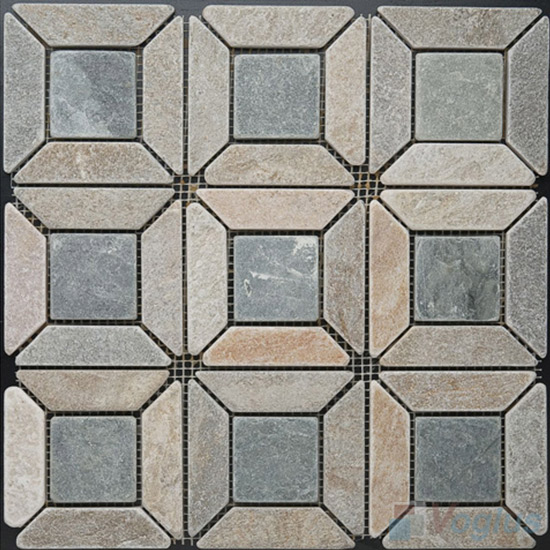 Quartz Polished Big Pinwheel Stone Mosaic VS-PPW89