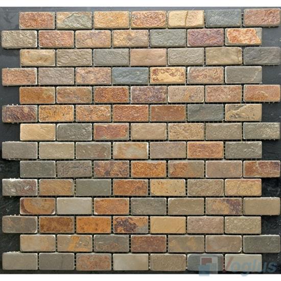 Subway Brick Rusty Slate Mosaic VS-SL91