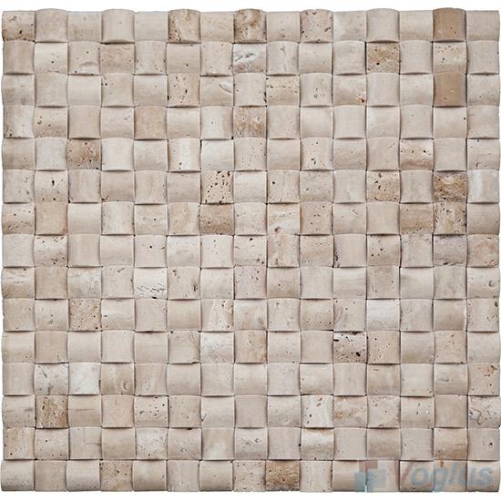 Travertine Small Camber 3D Stone Mosaic VS-PCB89