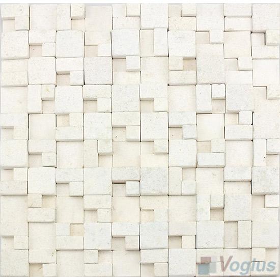 White Breakfront Marble Mosaic VS-PBF97