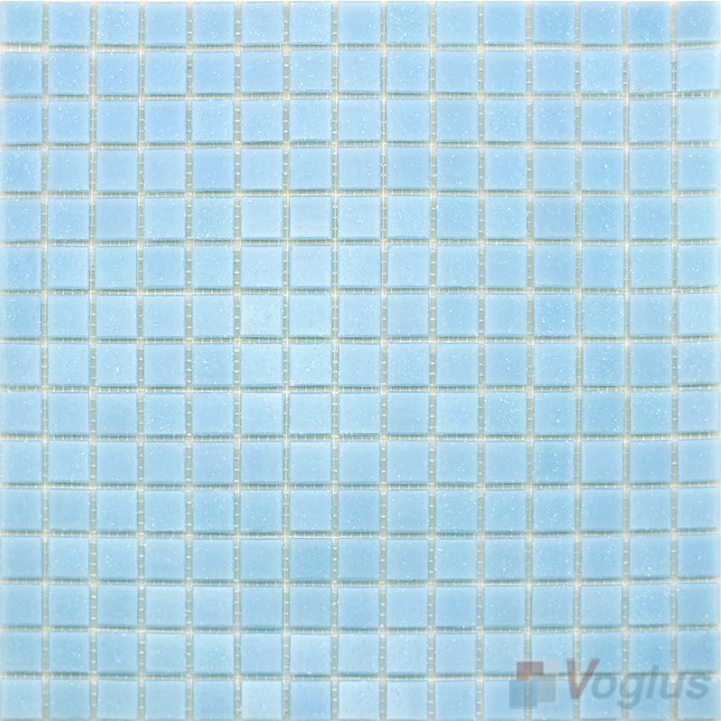 Light Blue 20x20mm Dot Glass Mosaic VG-DTS96