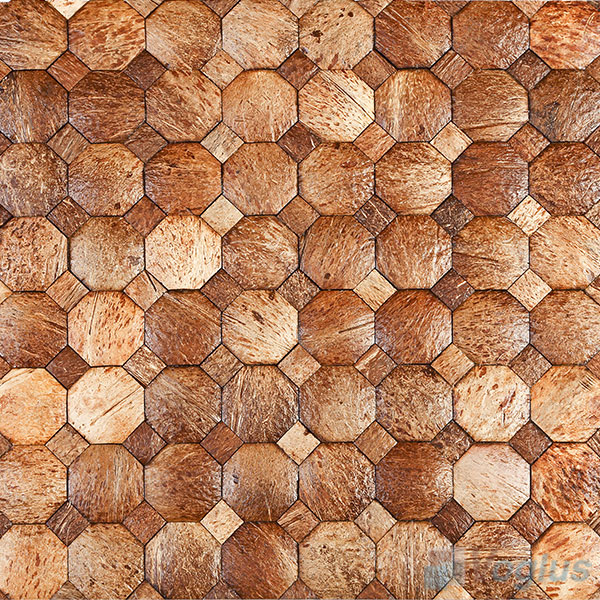 Octagon Coconut Mosaic Tiles VCC98