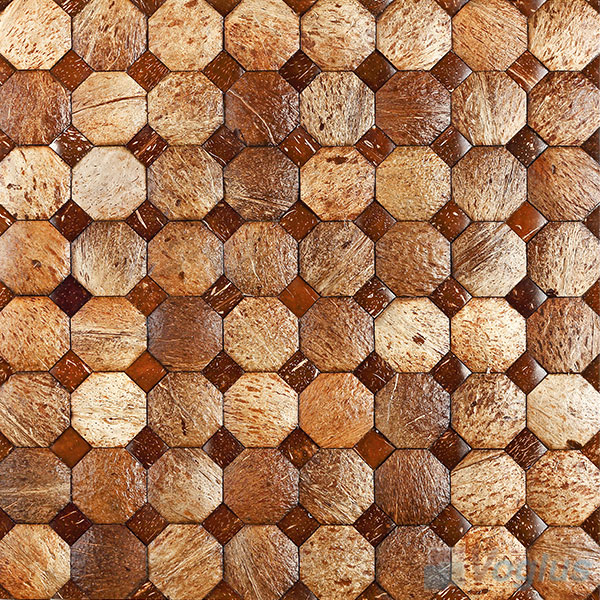 Octagon Coconut Mosaic Tiles VCC99