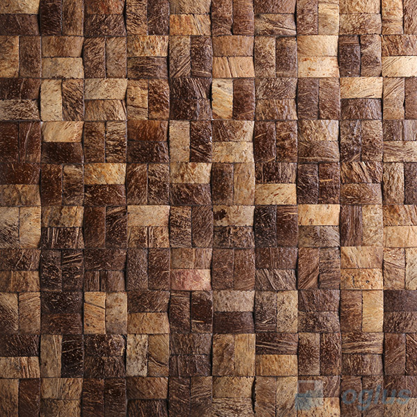 Twin Coconut Mosaic Tiles VCC86