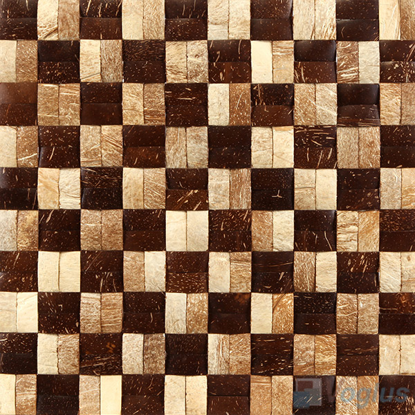 Twin Coconut Mosaic Tiles VCC87